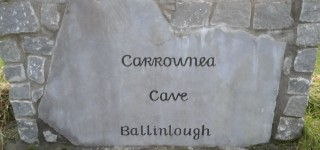 Stone Carving by Woodlawn Heritage Group CES Participants showing townalnd name of Ballinlough | Aisling Deely