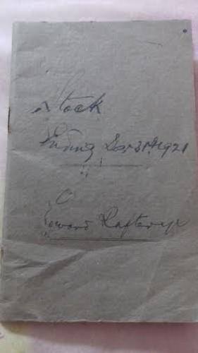 Stock Book, Raftery's Shop, Woodlawn | Lilian Higgins
