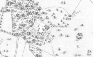 1st Edition Ordnance Survey map showing Clooncah Estate | https://maps.osi.ie/publicviewer/#V2,562948,730912,7,8