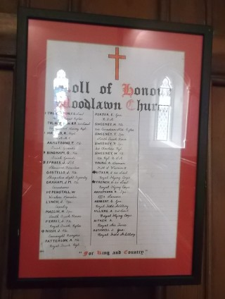 Roll of Honour, Woodlawn Church | B. Doherty
