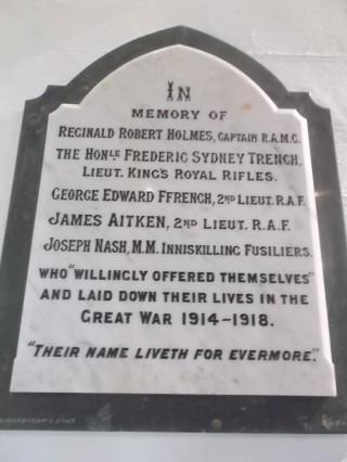 War Memorial, Woodlawn Church   B. Doherty