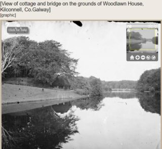 The lake at Woodlawn House | Dillon Family, Courtesy of National Library of Ireland
