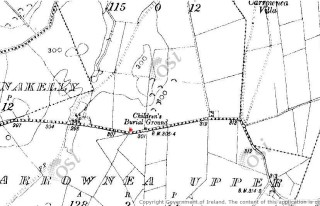 2nd edition Ordnance Survey Map showing location of Children's Burial Ground | www.archaeology.ie