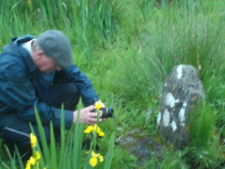 Des Doherty at Kinreask holy well,  June 2013 | B. Doherty