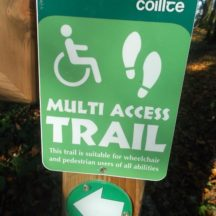 Multi Access Trail Sign, Woodlawn | B. Doherty 2016