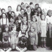 Mrs Kitt & Pupils, Shanballard N.S 1940s | Page 129, 'Making Shapes with Slate and Marla'