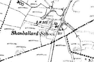 2nd Edition Ordnance Survey Map showing location of Shanballard N.S, | https://webgis.archaeology.ie/historicenvironment/