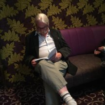 Gentleman reading quietly at Book Launch of Woodlawn - A History | Olivia Anderson
