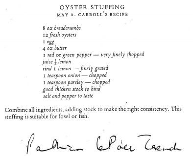 Oyster Stuffing Recipe | Courtesy of Justin Dillon