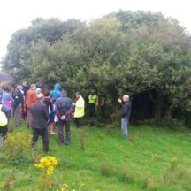 Christy talks to group at Killaan Holy Well | Cathy Seale 2017