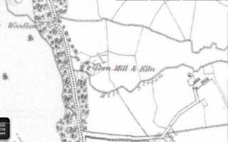 Corn Mill & Kiln on 1st Edition Ordnance Survey map (1840- 42) | www.archaeology.ie