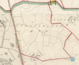 Ist Edition Ordnance Survey Map showing outline of Cloonahinch | https://maps.osi.ie/publicviewer/#V2,568920,731780,9,7