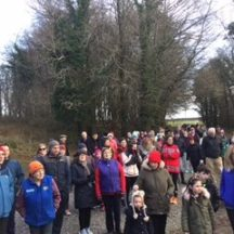 Lots of people meeting in the Woods on St. Stephens Day 2016 | M. Kenny 2016