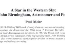 A Star in the Western Sky: John Birmingham, Astronomer and Poet