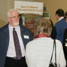Chatting at website launch | Photo: Gerry Costello