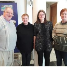 Tomas O'Cadhain Moycullen Historical Society, Breda Murray Finn Lackagh Museum & Heritage Centre, Pauline Connolly Milltown Heritage, Co Galway, and Bernie Doherty Woodlawn Heritage Group   Photo: Hazel Moycullen Historical Society