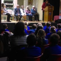 Cllr Mary Hoade praises the work of the school children