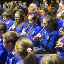 Milltown school pupils playing tin whistle | Photo: Frank Glynn