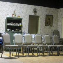 Stage set of Philadelphia Here I Come! Set in the 1960s | Photo: Frank Glynn