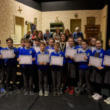 Milltown NS receiving their well earned certs | Photo: Tuam Photo Studio