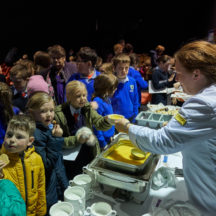 Students availing of the food at launch | Photo: Tuam Photo Studio