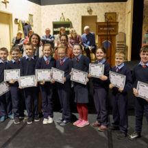 Students from Belmont receiving certificates | Photo: Tuam Photo Studio