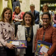 Teachers from our local schools involved in the project receiving vouchers and art sets | Photo: Tuam Photo Studio