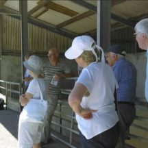 Marie Mannion discussing the transformation of the sheds into our heritage village | Photo: A Cosgrove