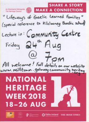 Heritage Week Poster 2018 | MHG