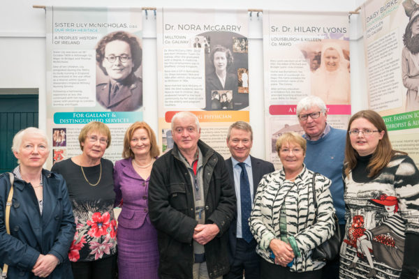 Members of Milltown Heritage Group with the McGarry Family | Copyright: Keith Heneghan, courtesy of the National Museum of Ireland.