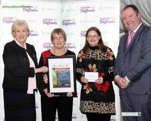 Minister Heather Humpreys, Minister for Business, Enterprise & Innovation presents Frances Murphy & Pauline Connolly  with Milltown Heritage's national award |  Eugene T Hamill photography 2018