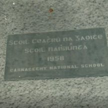 Plaque dated 1958
