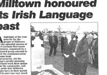 Milltown honoured its Irish Language Past