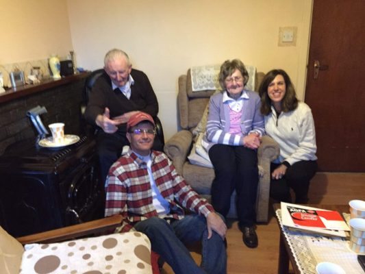My cousins Maureen and Jim visited by Janice Wallop
