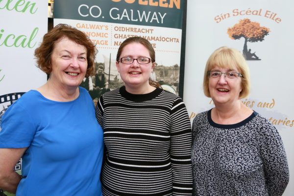 Bernadette Forde (Killererin Heritage Group), Pauline Connolly (Milltown Heritage Group), Antoinette Lydon (Oughterard Heritage Group) | Photo: Sean Lydon