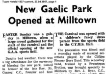 New Gaelic Park Opened in Milltown