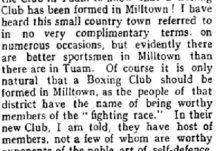 Boxing in Milltown