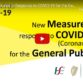 Public Health Advice & Measures in Response to Covid-19 (Coronavirus)