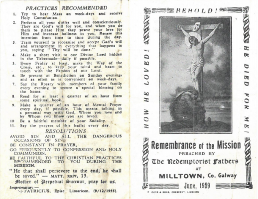 Remembrance of the Mission