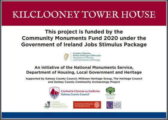 Kilclooney Tower House sign