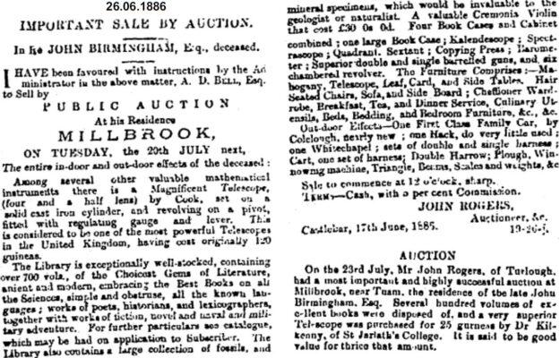Important Sale by Auction.