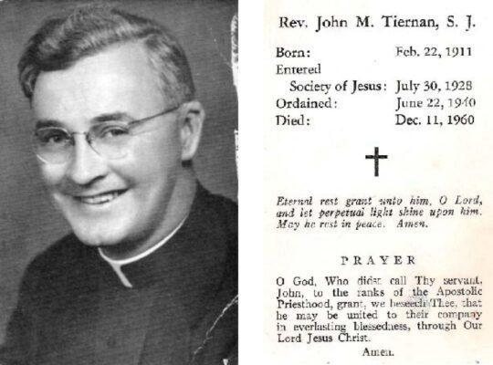 Rev John M Tiernan SJ