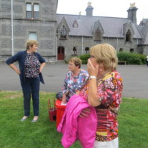 Eileen O'Connell, Mary Cleary and Colette Lynskey in the grounds of the National Museum | Photo: B. Forde