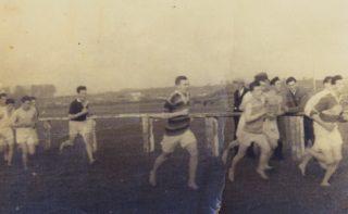 Athletics in Parkmore with some parishioners | Killererin - A Parish HIstory
