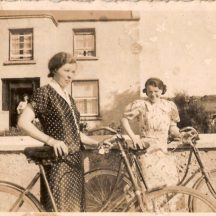 Annie Keane on left and ? Mitchell | Killererin Heritage Society