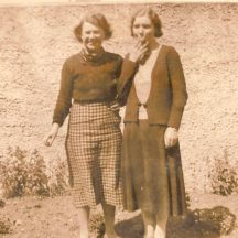 Annie Keane and friend | Killererin Heritage Society