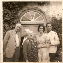 Joe Hanley and Mrs. Hanley, Dublin.  Mrs. Hanley, Barnaderg, Daithi Hanley and his wife (Dublin) | Killererin Heritage Society