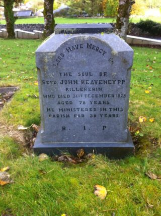 Gravestone of Rev. John Keaveney 1925 | John Coyle, Killererin Heritage Society