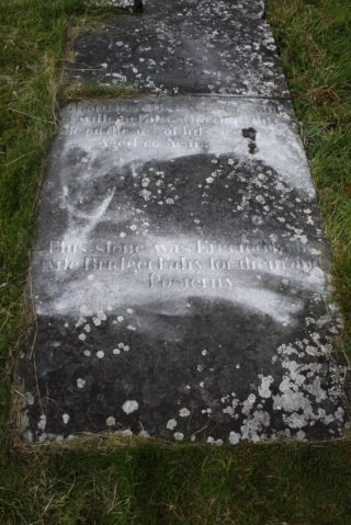 1818 gravestone of William Fahy, Creevaghbaun | Killererin Heritage Society