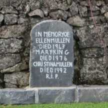 Grave 8 -  Inscription of gravestone of Ellen Mullen, Mary King and Christina Mullen | Bernadette Forde, Killererin Heritage Society